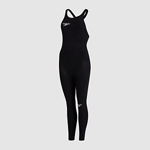 Women's Fastskin LZR Elite Openwater Closedback Female Bodyskin Black