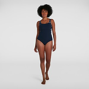 Women's LunaLustre Printed Swimsuit Navy