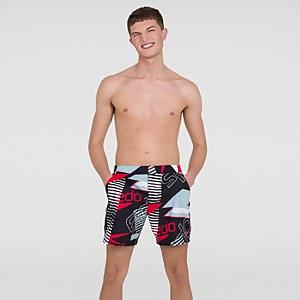 """Men's Vintage Paradise 16"""" Swim Shorts Black"""
