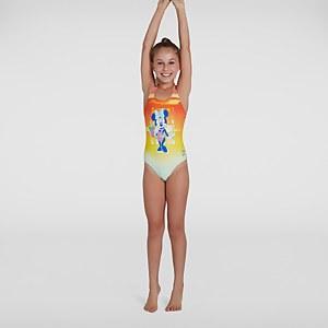 Mädchen Disney Minnie Mouse Medalist Badeanzug in Orange