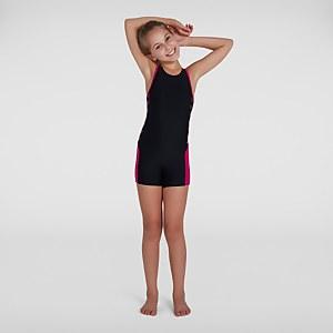 Girl's Boom Logo Splice Legsuit Black