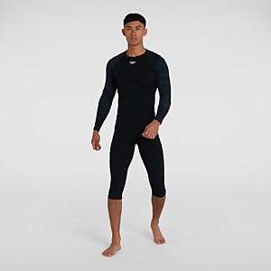 Men's Sports Long Sleeve Rash Top Black