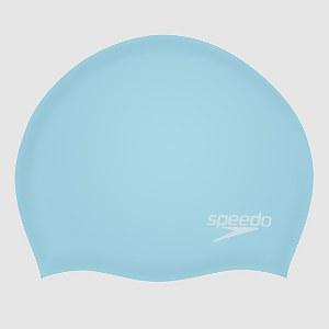 Unisex Plain Moulded Silicone Cap Blue