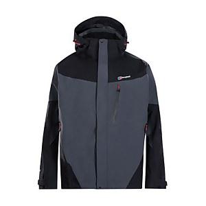 Men's Arran Waterproof Jacket - Dark Grey/ Black