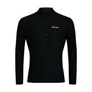 Men's 24/7 Long Sleeve Zip Base Layer - Black