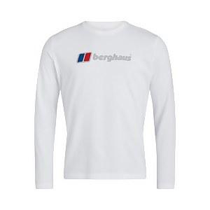 Men's Organic Big Logo Long Sleeve T-Shirt - White