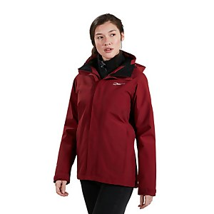 Women's Hillwalker InterActive Waterproof Jacket - Dark Red