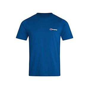 Organic Front & Back Logo T-Shirt - Blue