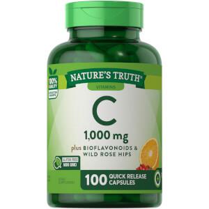 Vitamin C 1000mg + Bioflavonoids & Wild Rose Hips - 100 QR Capsules
