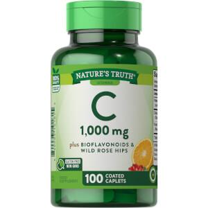 Vitamin C 1000mg + Bioflavonoids & Wild Rose Hips - 100 Caplets