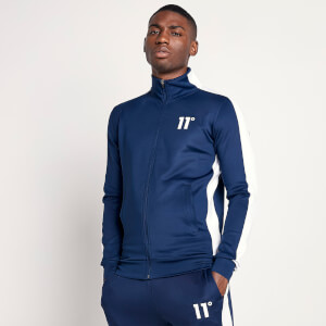 Men's Full Zip Poly Panel Track Top - Insignia Blue/White
