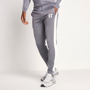 Men's Poly Panel Track Pants - Steel/White