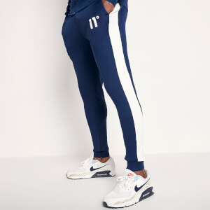 Men's Poly Panel Track Pants - Insignia Blue/White
