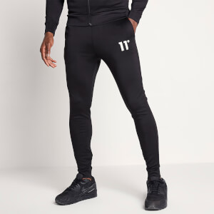 Men's Core Poly Tapered Track Pants - Black