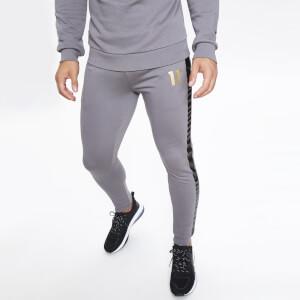 Men's Nitro Contrast Side Stripe Print Joggers Skinny Fit - Charcoal