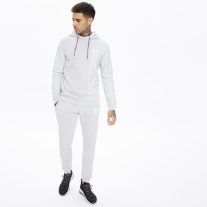 Men's Eclipse Cut And Sew Mixed Fabric Pullover Hoodie - Vapour Grey