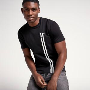Men's Stripe Logo T-Shirt - Black