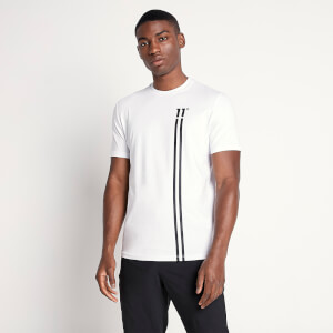 Men's Stripe Logo T-Shirt - White