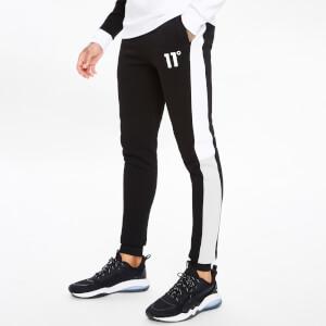 Men's Boxy Block Joggers Regular Fit - Black/Light Grey/White