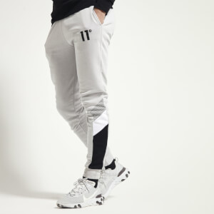 Men's Mercury Mesh Print Cut And Sew Joggers Skinny Fit - Vapour Grey