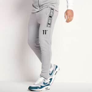 Men's Taped Joggers Skinny Fit - Silver/White/Black