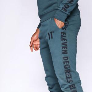 Men's Contrast Print Joggers Regular Fit - Darkest Spruce Green/Black