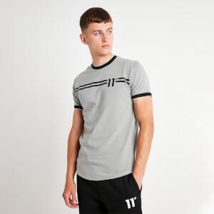 Men's Chest Stripe Muscle Fit Ringer T-Shirt - Silver/White