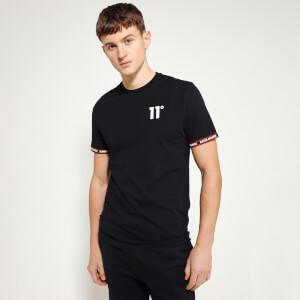 Men's Tape Cuff Key Line Logo T-Shirt Black/Ski Patrol Red