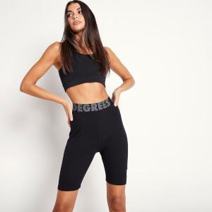 Women's Sustainable Rib Lounge Cycling Shorts - Black