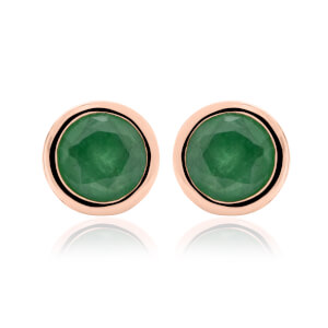 Emerald May Birthstone Earrings