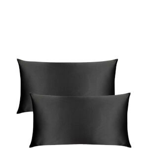 The Goodnight Co. Silk Pillowcase Twin Set King Size - Charcoal