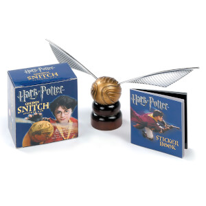 Statuette Vif d'Or + Livre Autocollants - Harry Potter (Édition Reliée)