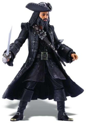Pirates Of The Caribbean Super Deluxe Figure Wave 1 Blackbeard Figure