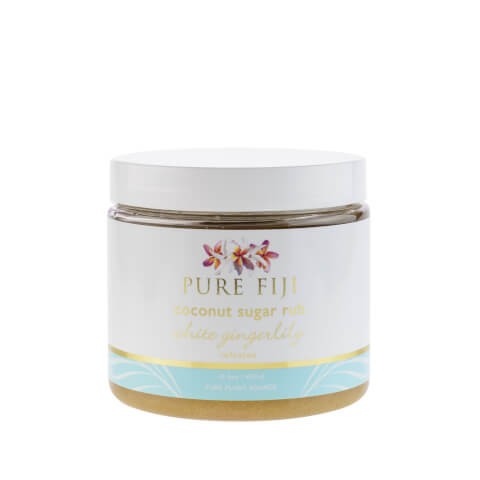 Pure Fiji Coconut Sugar Rub White Gingerlilly - 16oz