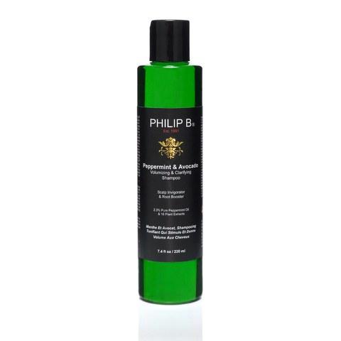 Philip B Peppermint and Avocado Volumizing and Clarifying Shampoo (220ml)