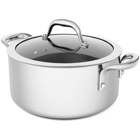 Morphy Richards 79806 Pro Tri Casserole Dish - Stainless Steel - 24cm