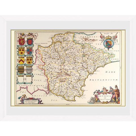 Maps Devon - 30 x 40cm Collector Prints