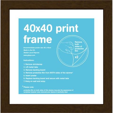 Walnut Frame 40 x 40cm