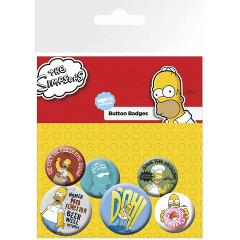 The Simpsons Family Faces - Badge Pack