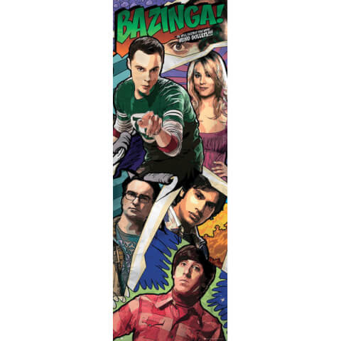 The Big Bang Theory Comic - Door Poster - 53 x 158cm