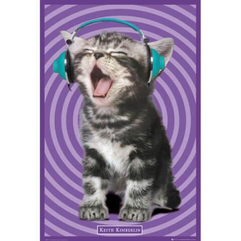 Keith Kimberlin Kitten Headphones - Maxi Poster - 61 x 91.5cm
