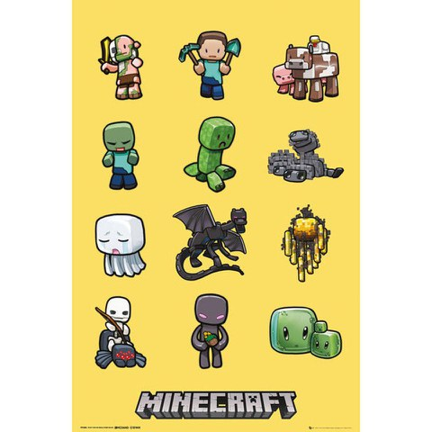 Minecraft Characters - Maxi Poster - 61 x 91.5cm