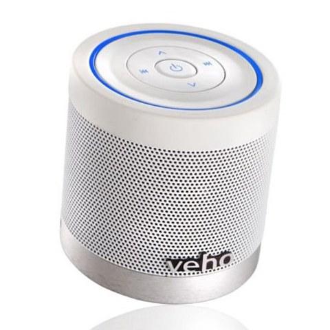 Veho tragbarer 360 Bluetooth Lautsprecher mit Titelkontrolle - weiß