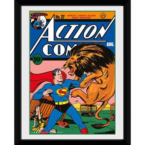 DC Comics Superman Lion - 8x6 Framed Photographic
