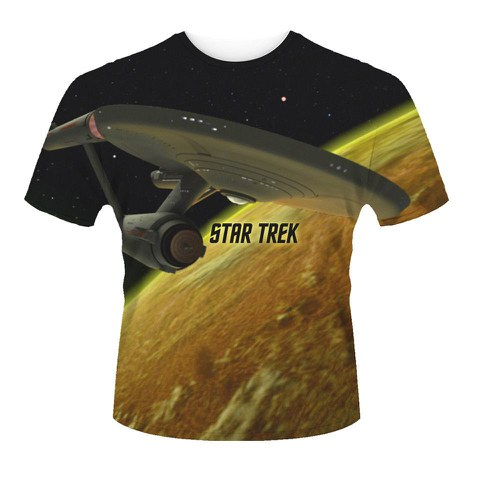 star trek men 39 s t shirt enterprise black merchandise. Black Bedroom Furniture Sets. Home Design Ideas