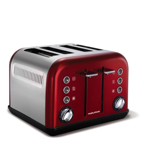 Morphy Richards 242004 New Accents 4 Slice Toaster - Red