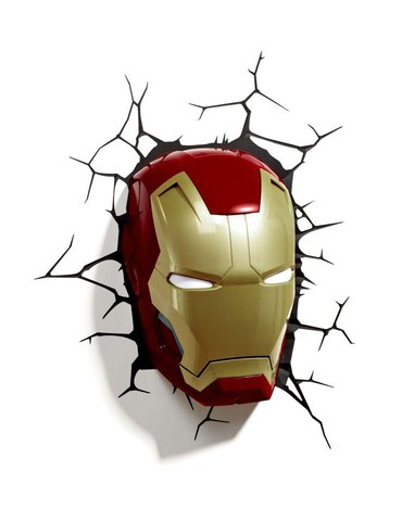 Lampe 3D Masque Iron Man 3 Marvel