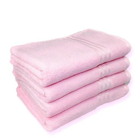 Restmor 100% Ägyptische Baumwolle 4 Stück Badetücher - Pink