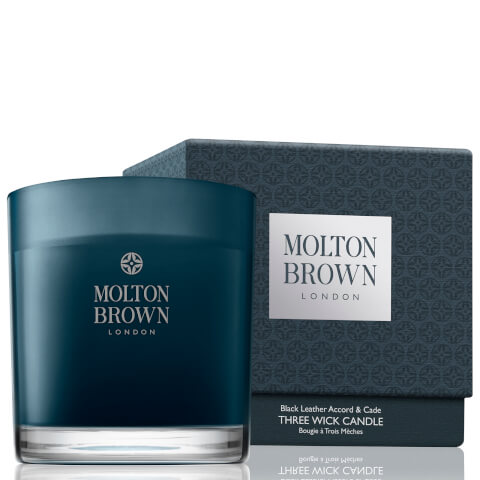 Molton Brown Black Leather Accord and Cade Three Wick Candle 480g
