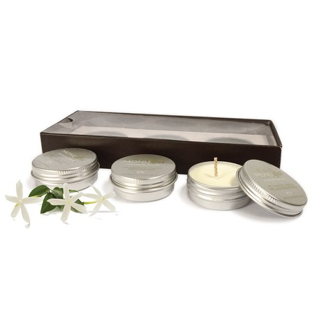MONU Spa Massage Candle Trio